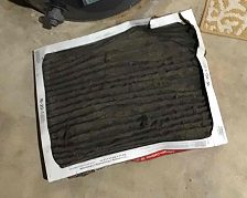 dirty clogged filter