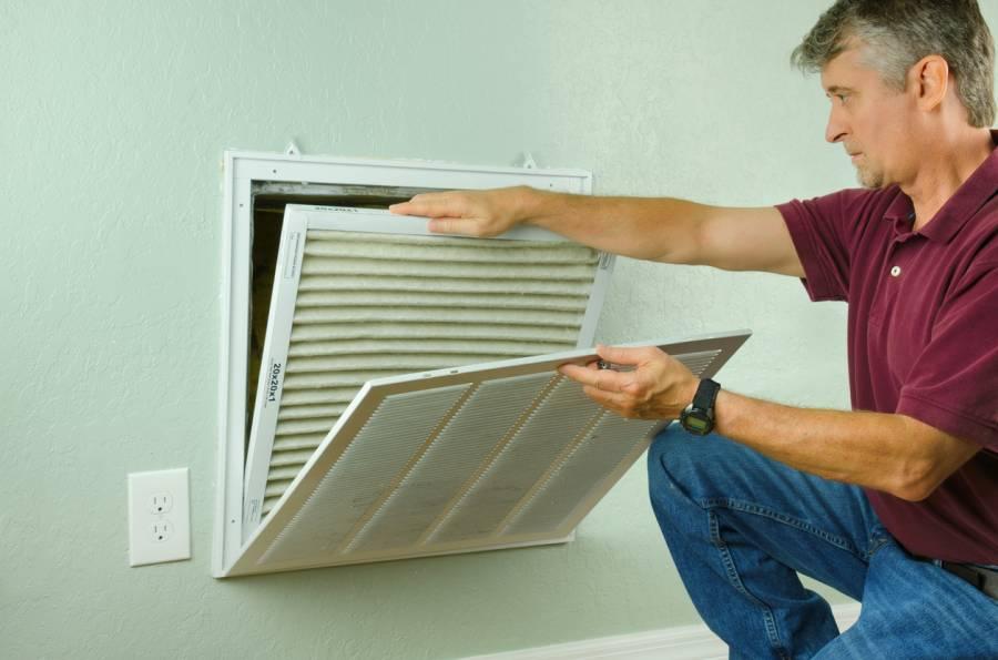 change filter at return grill, furnace, change, filter, return grill, return, grill, air, air flow, air filter