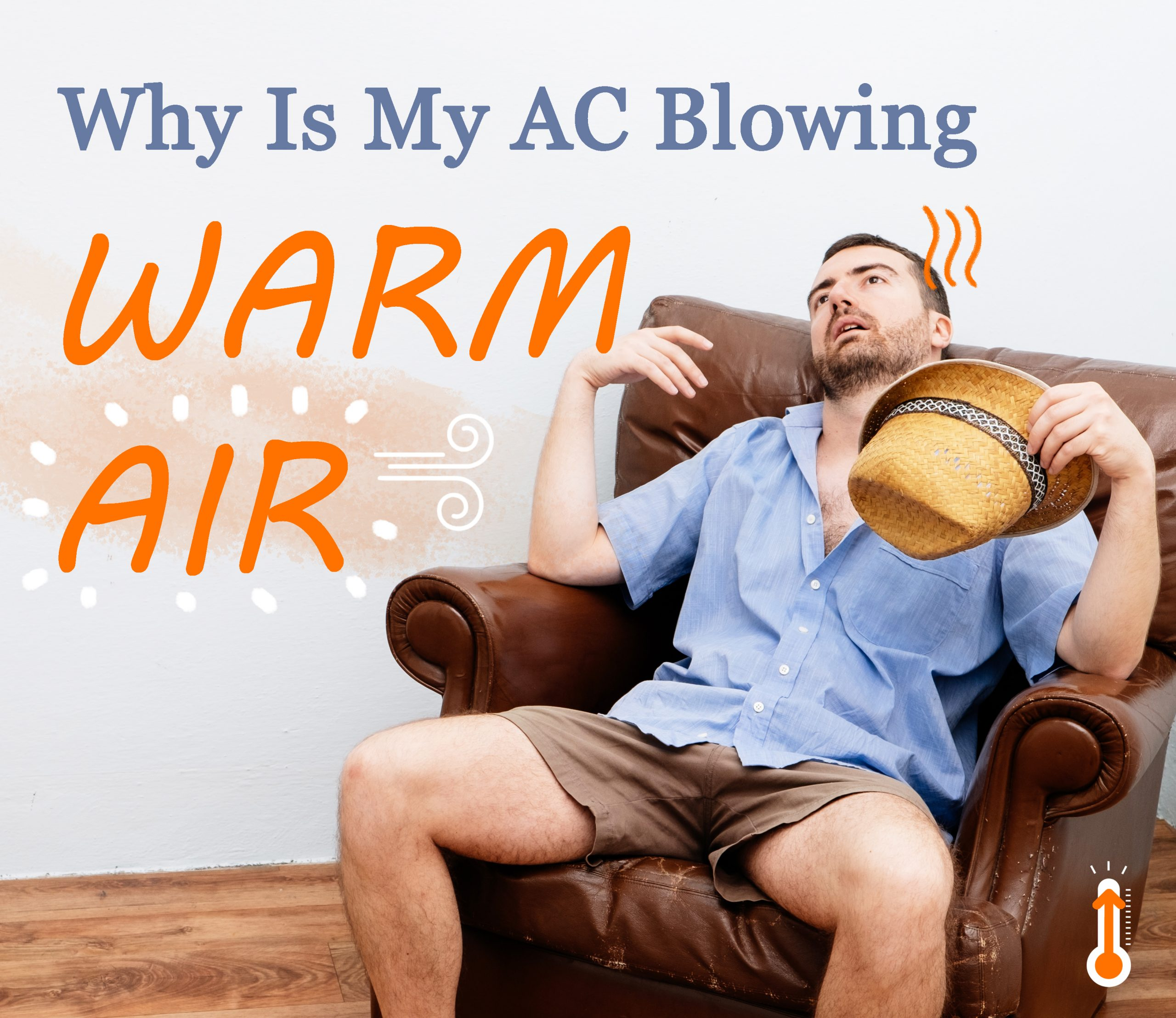 why is my ac blowing hot air
