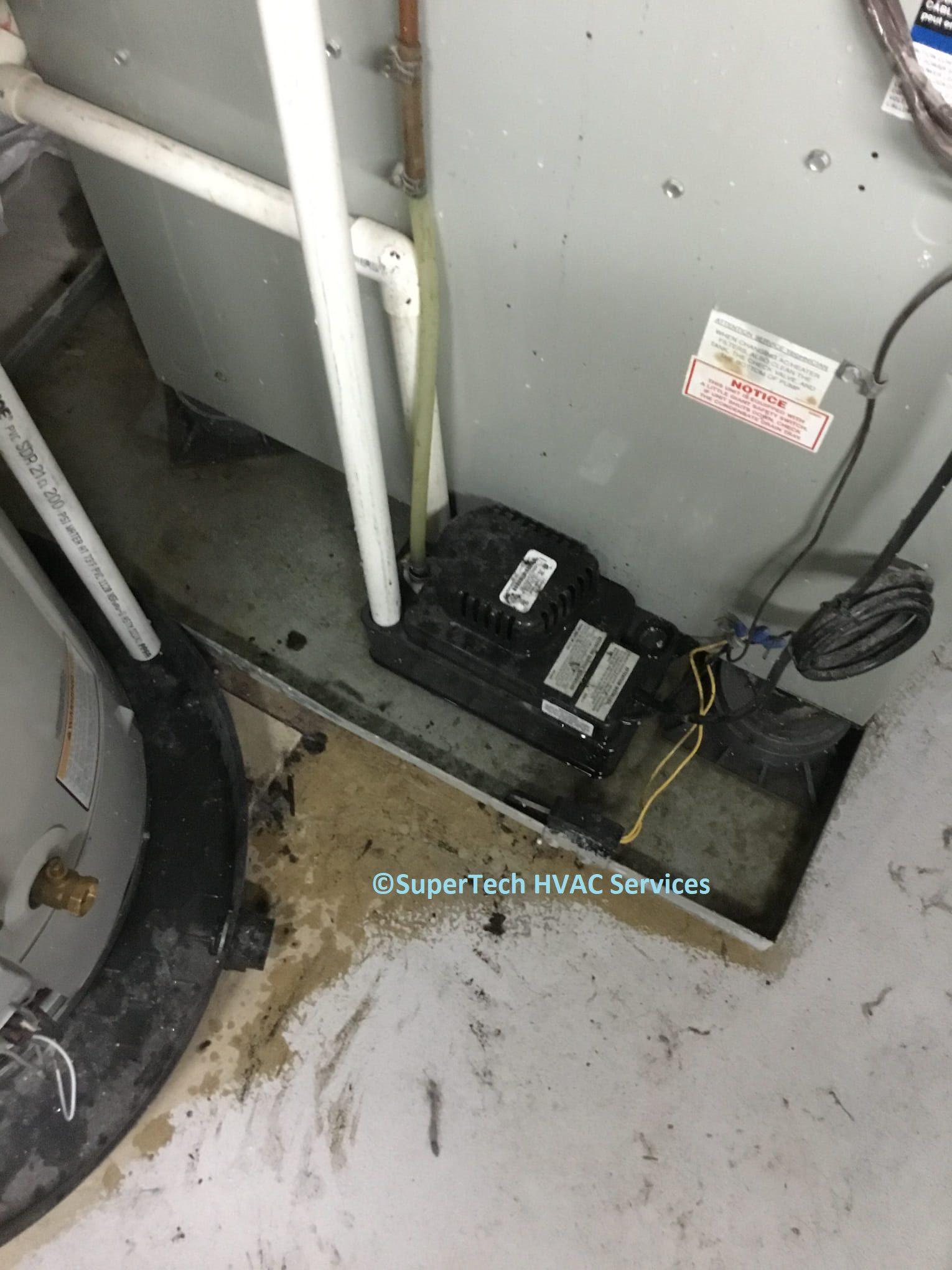 condensate pump leaking water