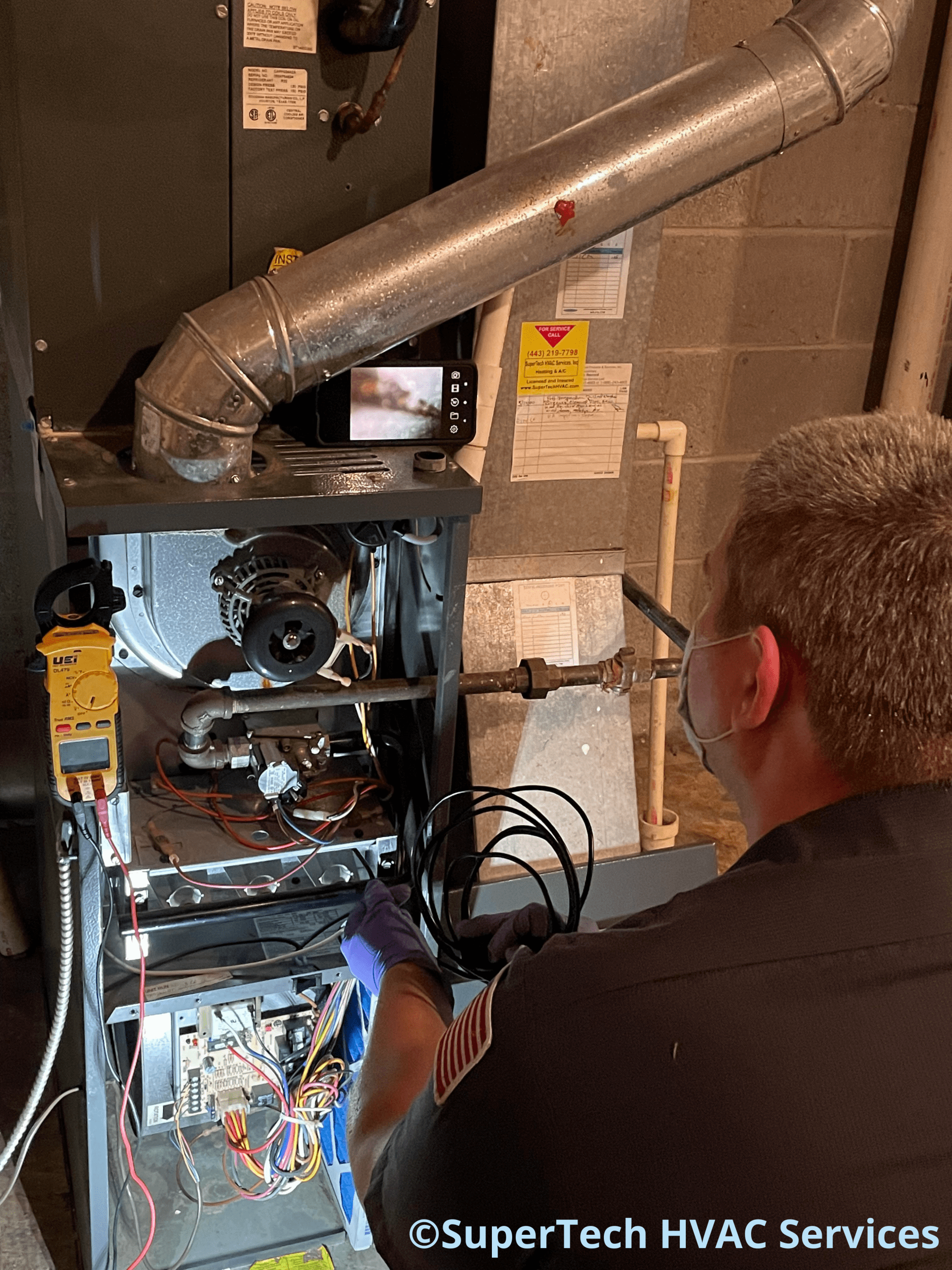 Cockeysville Charlie finds rust on heat exchanger during furnace tune up