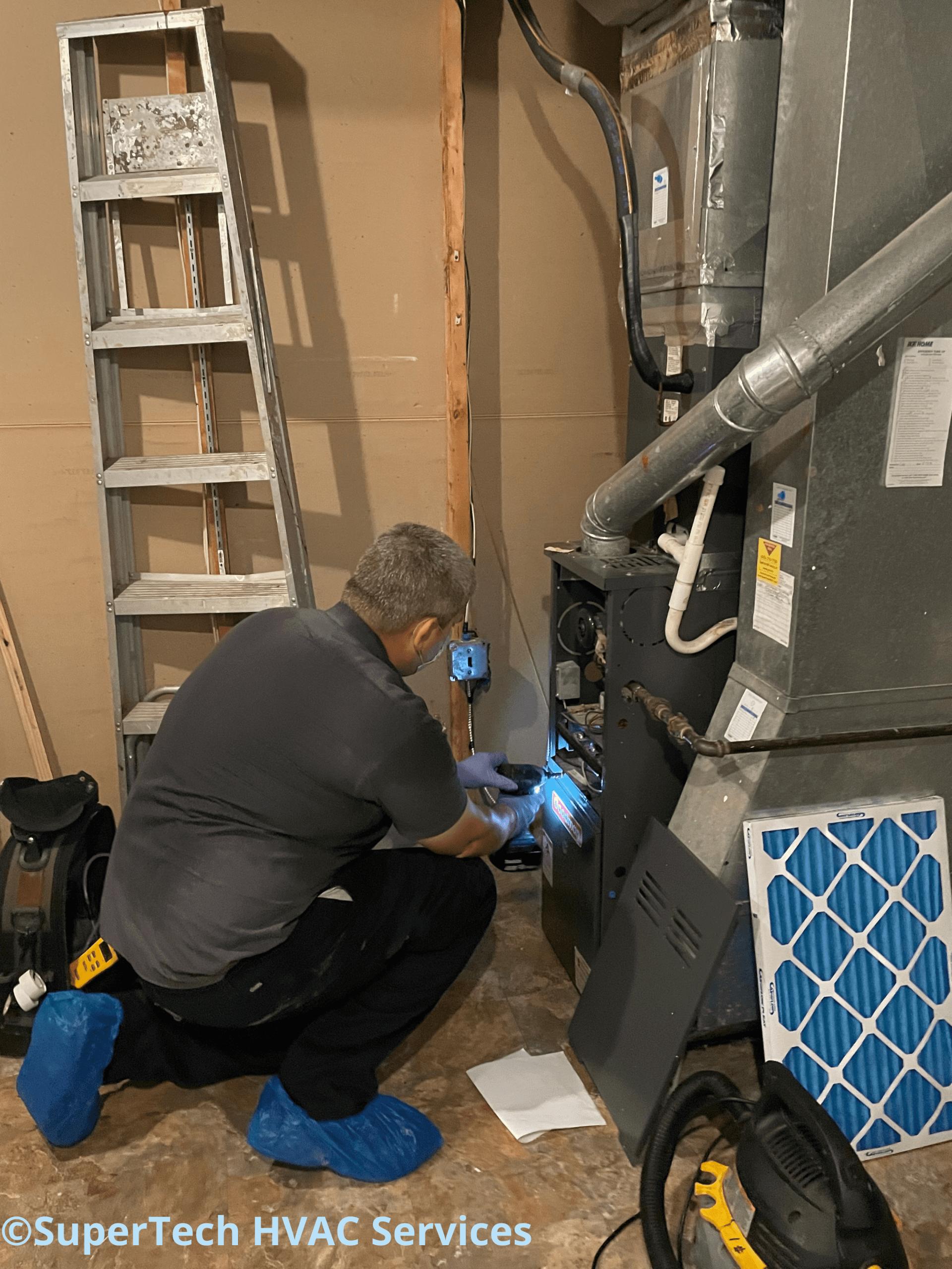 Remove furnace door