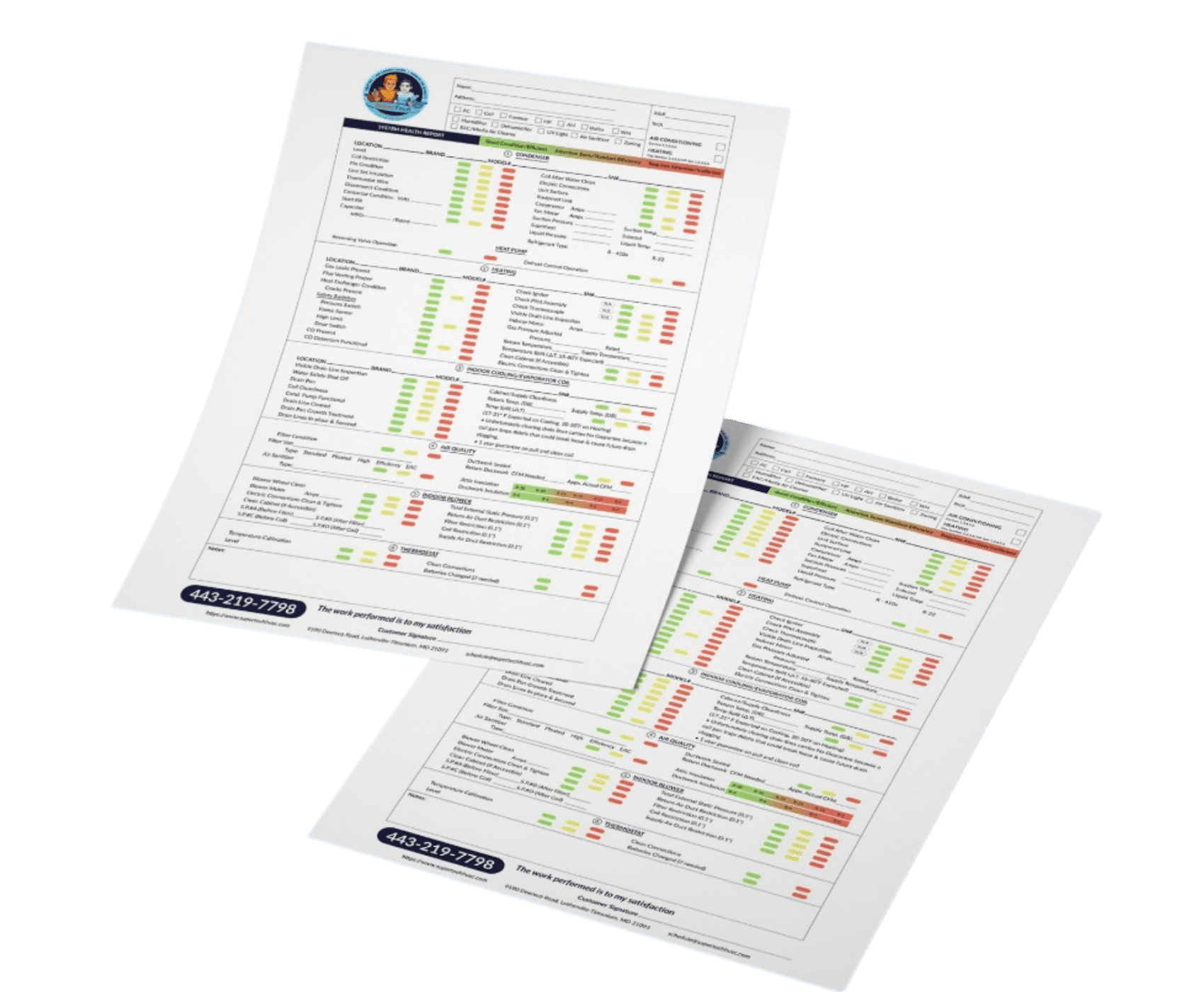 furnace tune up system health report